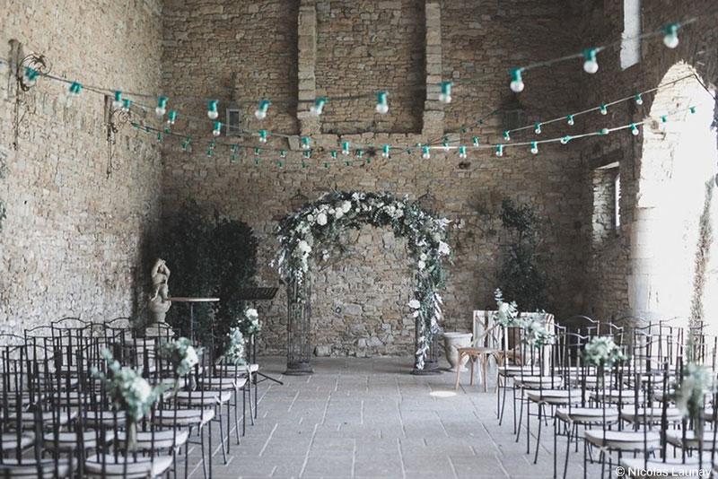 Ceremonie laique arches Manoir de Chivré champetre