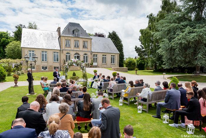 Mariage cérémonie laique Manoir de Chivré Normandie